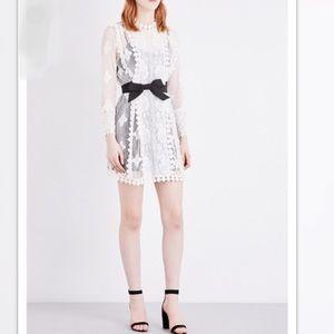 MAJE Roine Lace Dress white